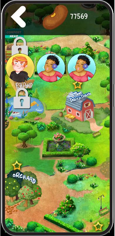 WellQuest garden map screen