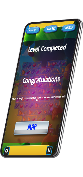 Congratulations for Level Completed screen in WellQuest game